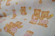 Blue Teddy bear Fabric material